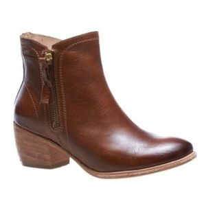 Wolverine Ella Block Heel Leather Bootie